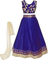Sky Global Girl's Banglori with Embroidery Lehenga Choli For Traditional Wear