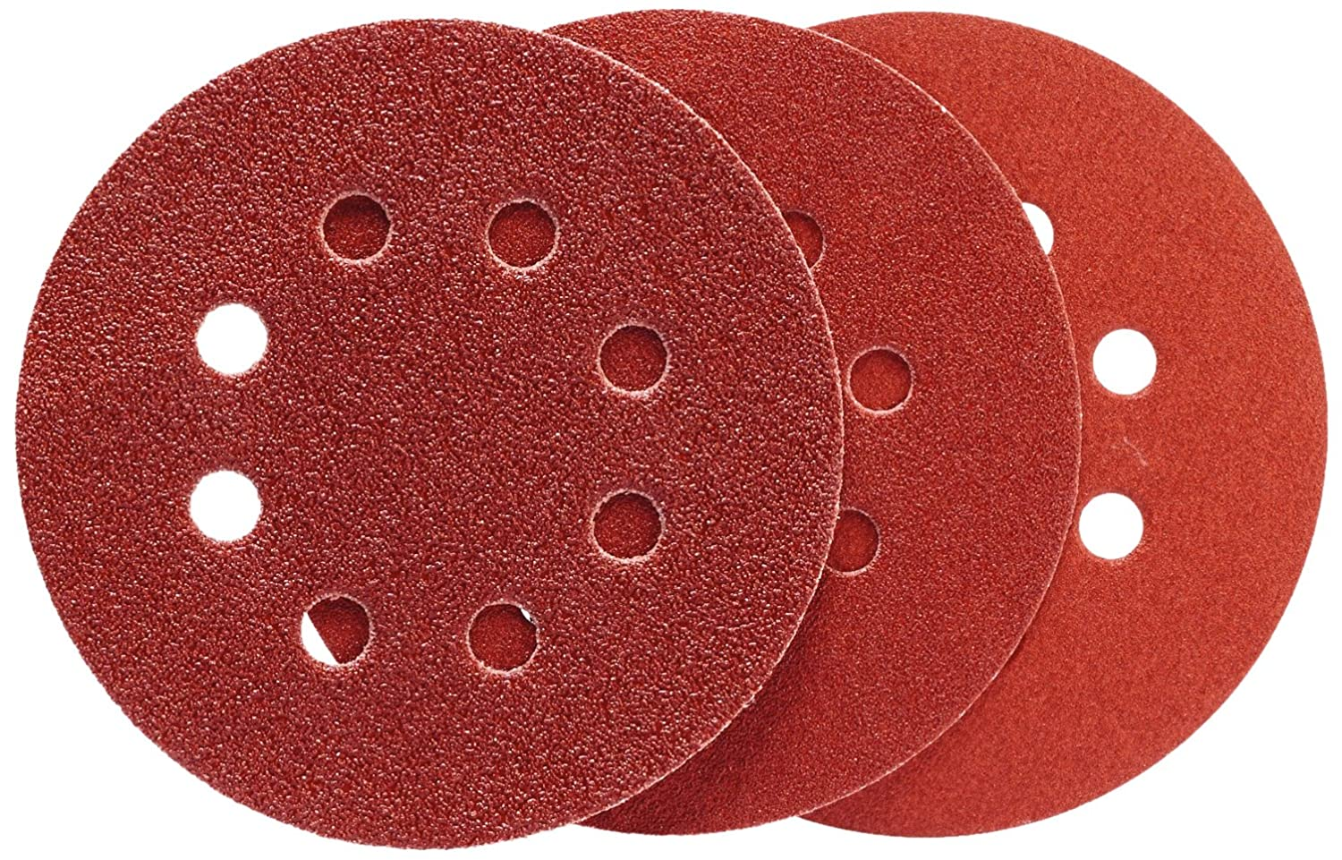 Norton Norgrip Set of 15 Assorted Sanding Discs with 8 Holes, 125 mm 125mm 63642522110