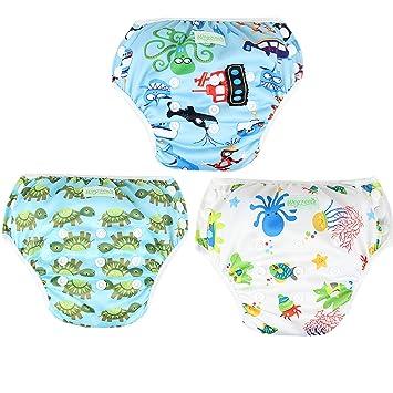 Wegreeco Baby & Toddler Snap One Size Reusable Baby Swim Diaper (Diving,Ocean,