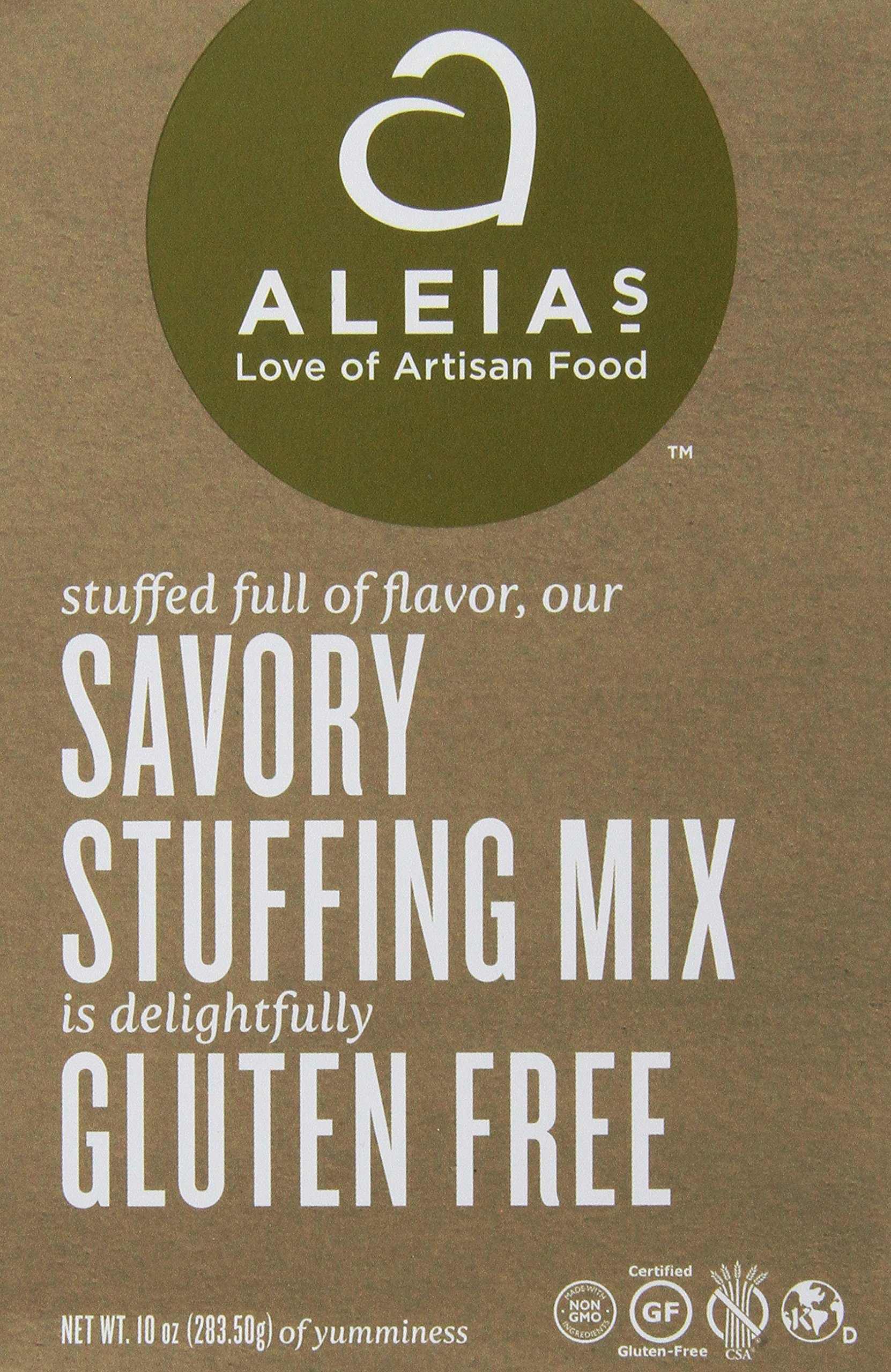 Stuffing Mix Savory Gluten-Free (6 Bags) 9 Ounces by Aleias