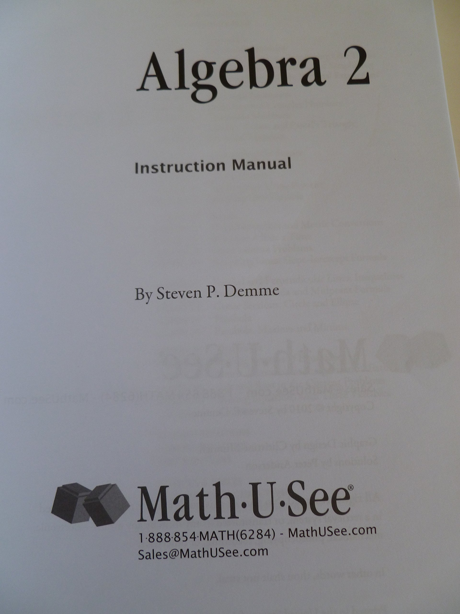 Contemporary Math U See Drill Photo - General Worksheet ...