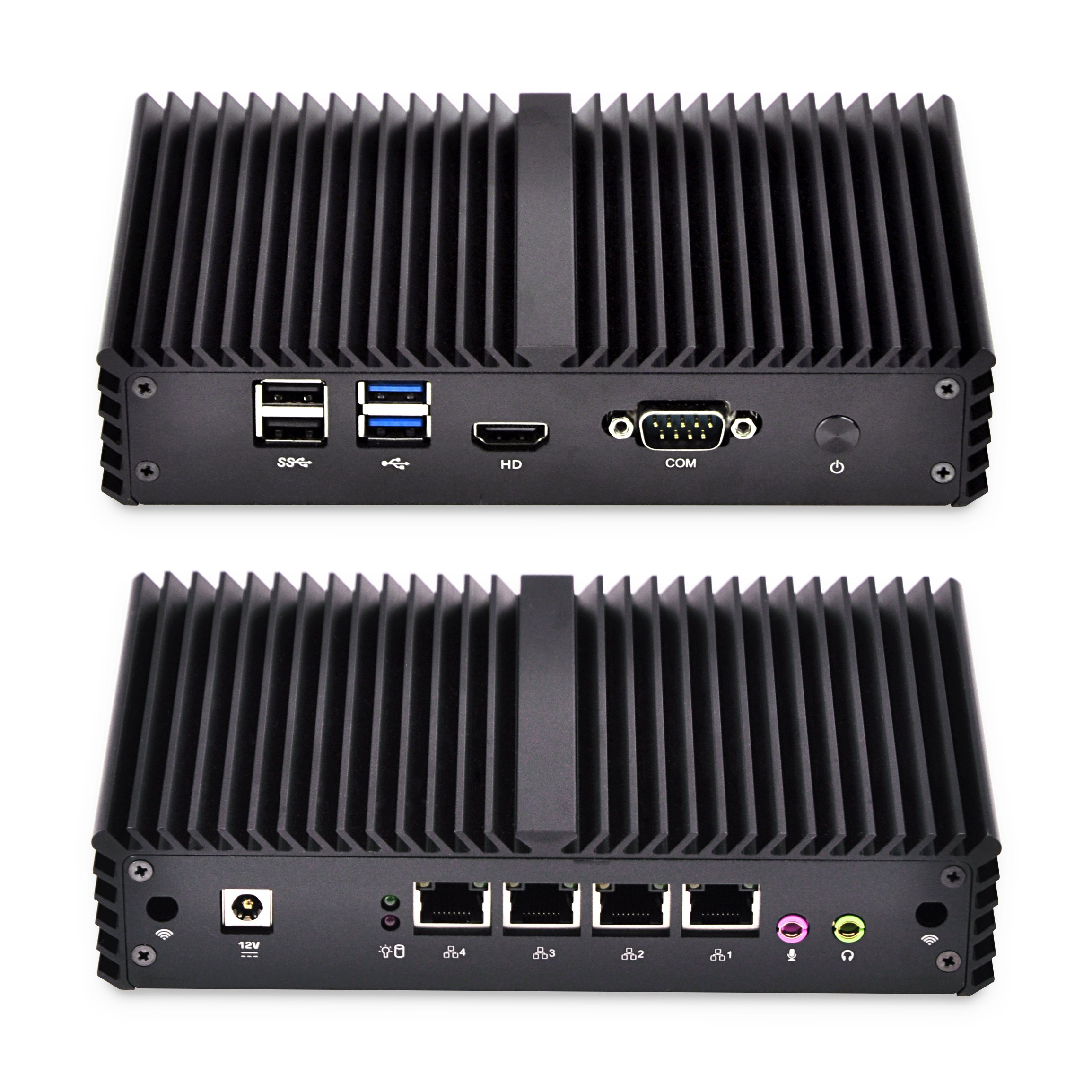 Pfsense Appliance Qotom-Q335G4 5Th Generation Intel Core I3-5005U, 4Gb Ddr3 Ram 16Gb Ssd, Fanless Aluminium Alloy,4 Lan,Dc 12V,Windows Os Linux Pfsense by Qotom (Image #1)