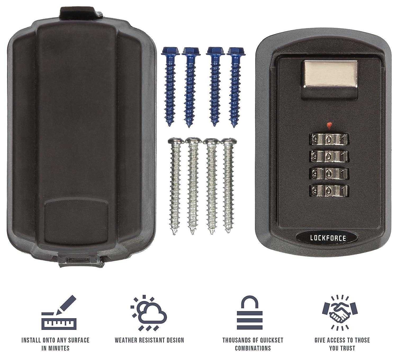 Lockforce Key Lock Box - Waterproof Case and Premium Wall Mount Kit ...