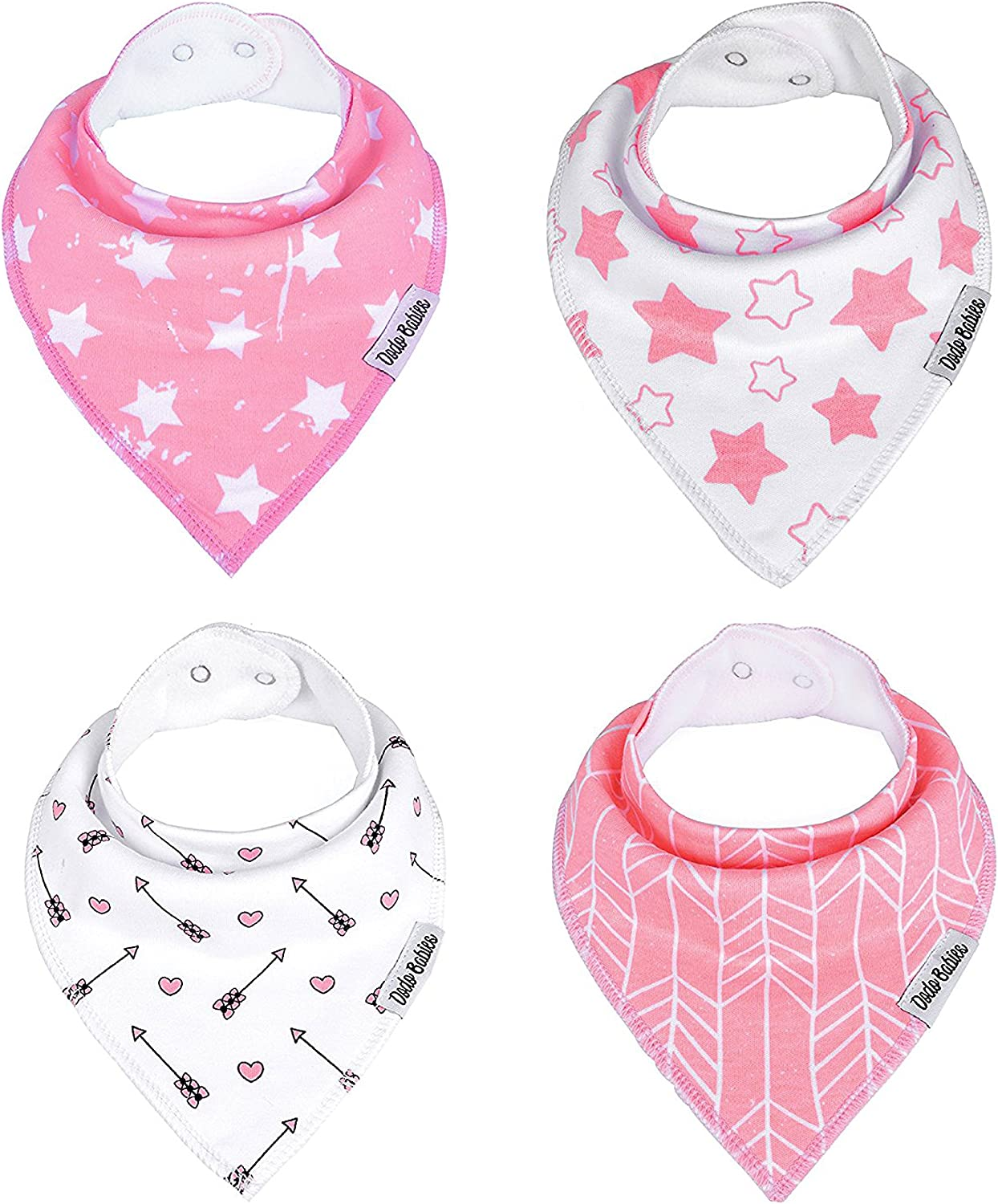 Baby/Â/Bandana Drool/Â/Bibs by Dodo Babies Registry Gift Pacifier Case In a Gift Bag Pack of 8 Premium Quality For Boys or Girls Excellent Baby Shower 2 Pacifier Clips