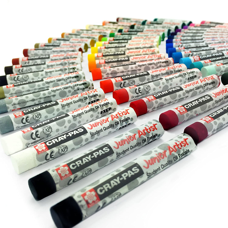 Sakura cray-pas Junior Artist oil Pastels–Confezione da 50–8mm x 60.8mm–XEP50