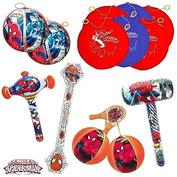 TB TOYS Spiderman Kit de Fiesta de cumpleaños con 13 Juguetes ...