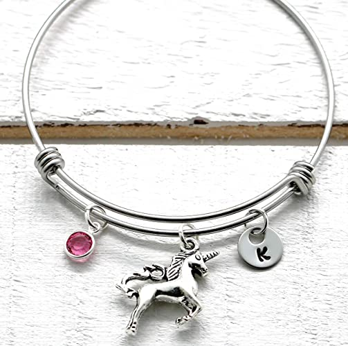 81974c1b3596 Amazon.com  Unicorn Bracelet - Unicorn Jewelry for Girls ...
