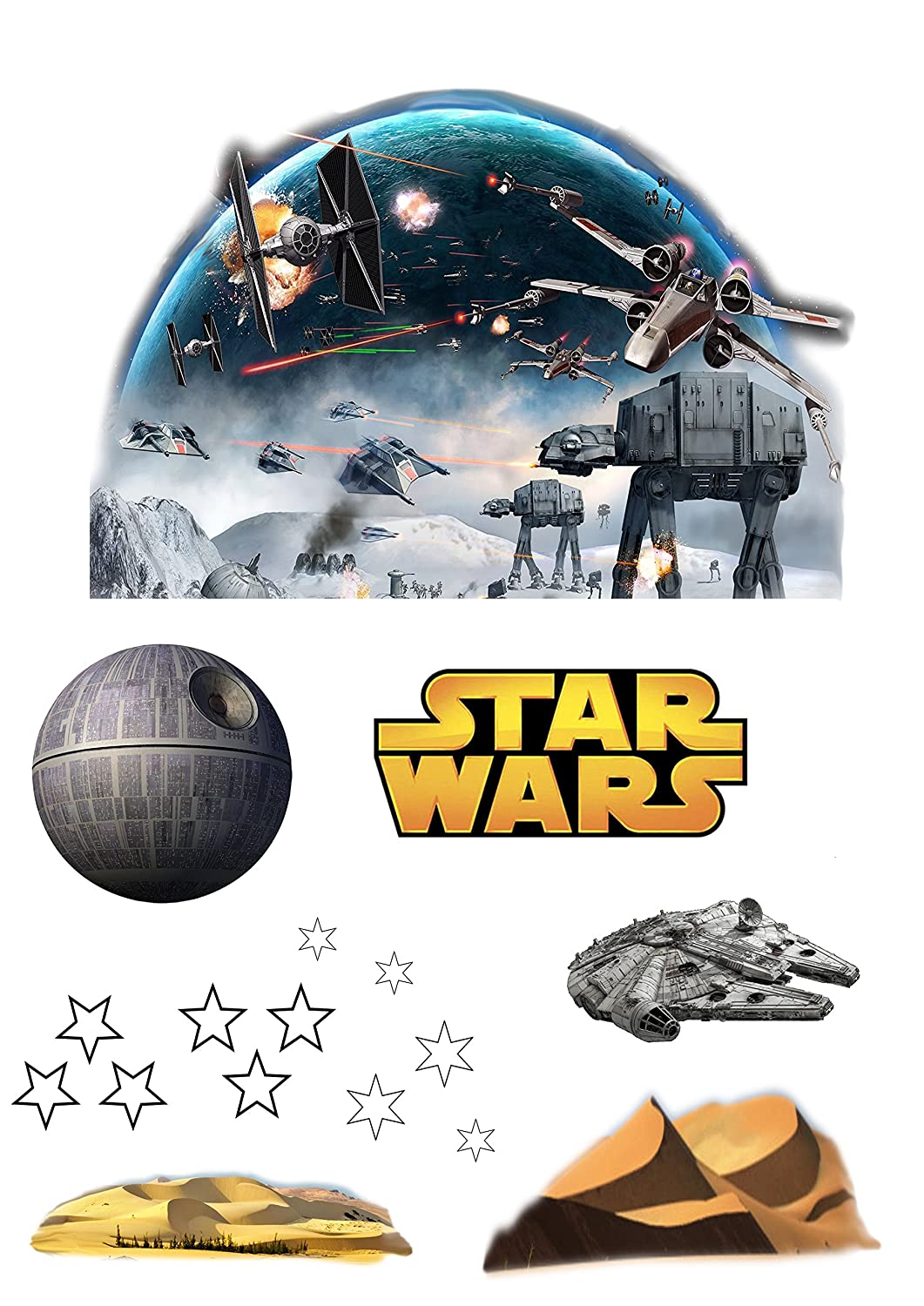 Stand Up Star Wars Cake Scene Premium Edible Wafer Paper Cake