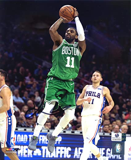 the best attitude dd024 3b953 Kyrie Irving Boston Celtics Signed Autographed 8