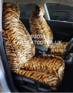 Front Pair KIA SPORTAGE Luxury Faux SHEEPSKIN FUR Car Seat Covers