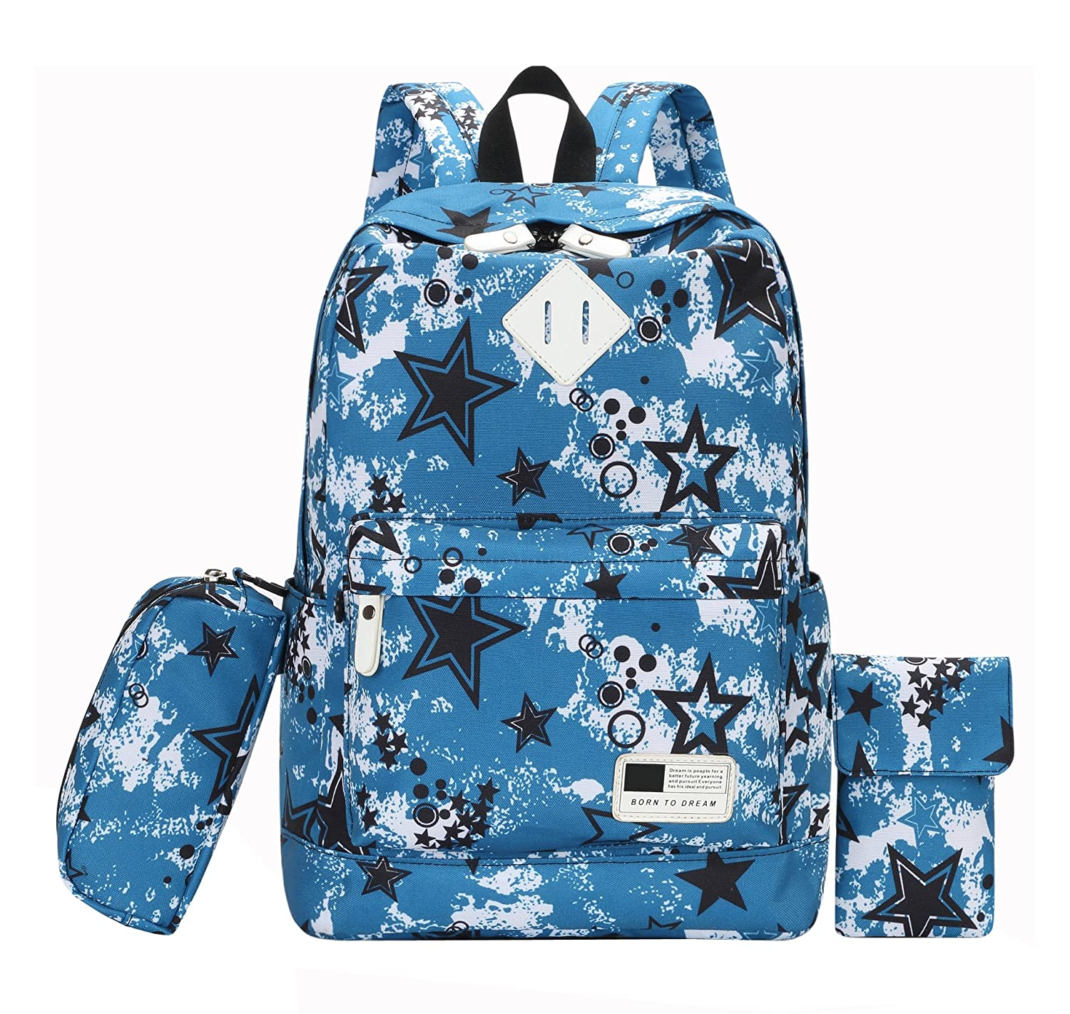 e50cc7a7ab69 AnKoee 3-in-1 School Bag (Comes with a pencil bag and a cell phone ...