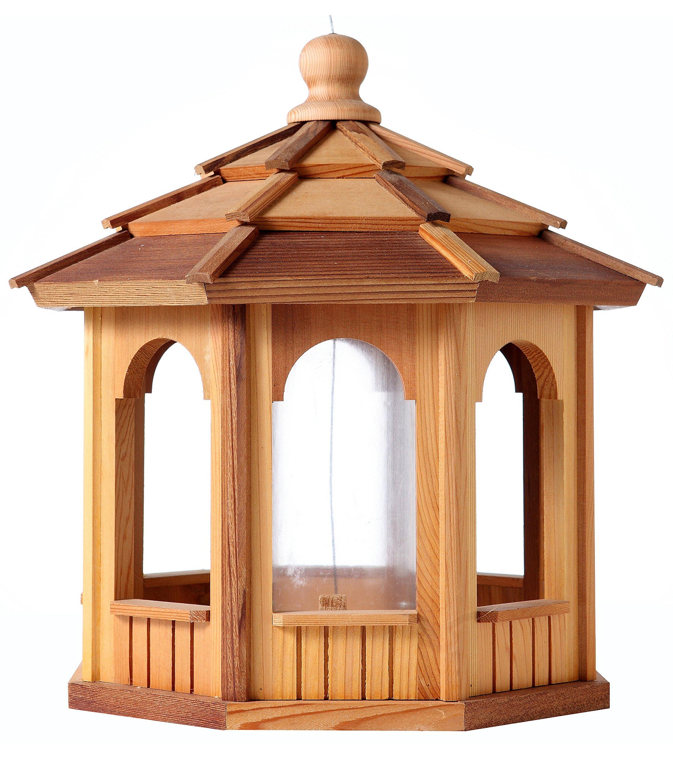 Cedar Birdfeeder Gazebo - Octagon - 16'' Dia. X 16'' Tall