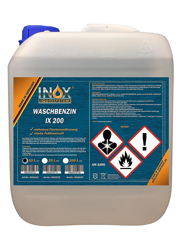 INOX IX 200 Waschbenzin, 10L - Reinigungsbenzin fü r Textilien und Oberflä chen