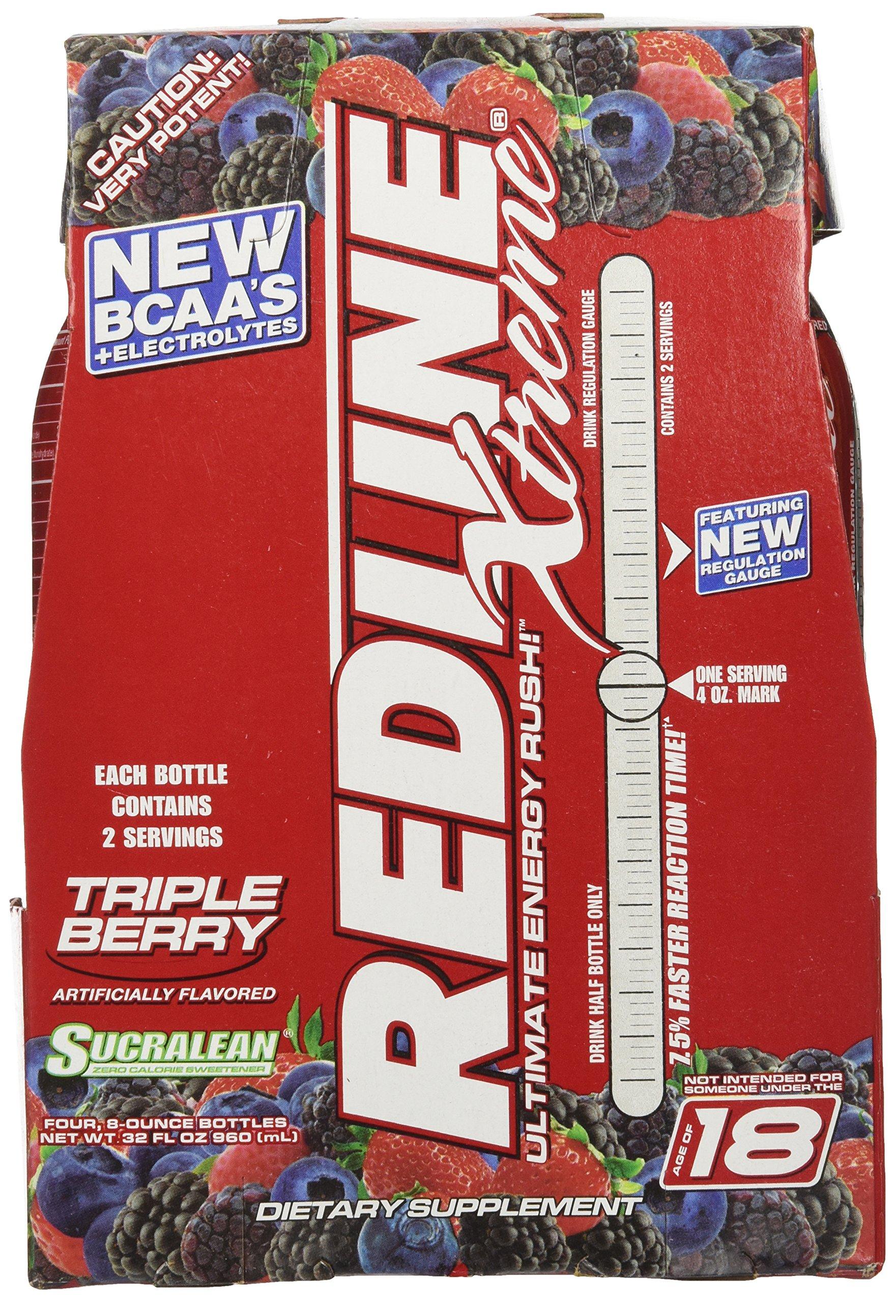 VPX Sports Redline Xtreme RTD Energy Drink, Triple Berry, 8 oz.  24 Count