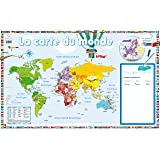 Poster-ardoise - La carte du monde
