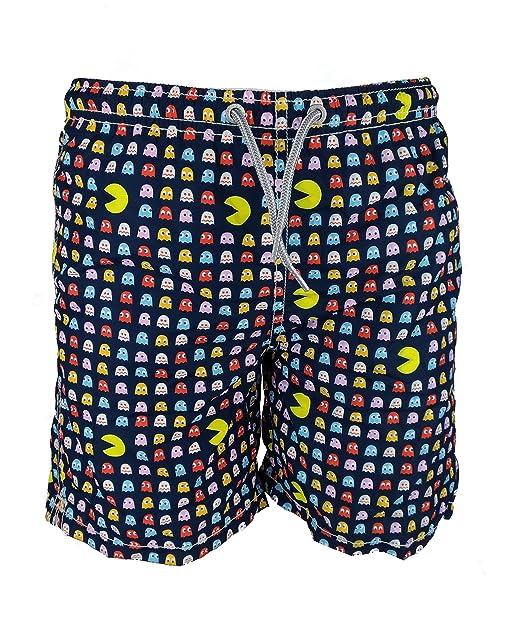0eea48a4a4e9 MC2 Saint Barth Costume Boxer Blu Stampa Micro Pacman 8 A: Amazon.it ...