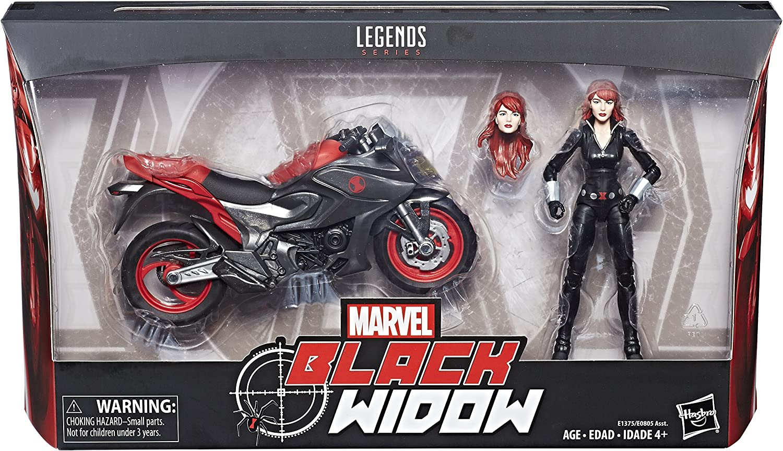 "Marvel Legends 6/"" Inch Deluxe Motorcycle Rider Black Widow Loose Complete"