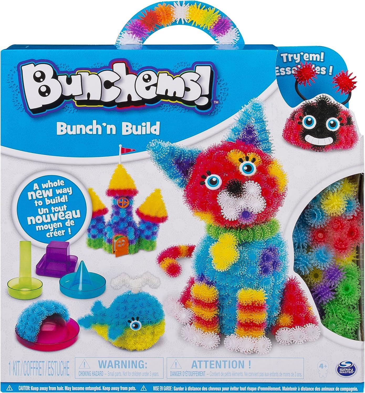 Spin Master Bunchems Bunch 'N Build Multicolor 530 g - Compuestos para cerámica y modelaje (Bunchems, Multicolor, Niños, China, 4 año(s), Niño/niña)