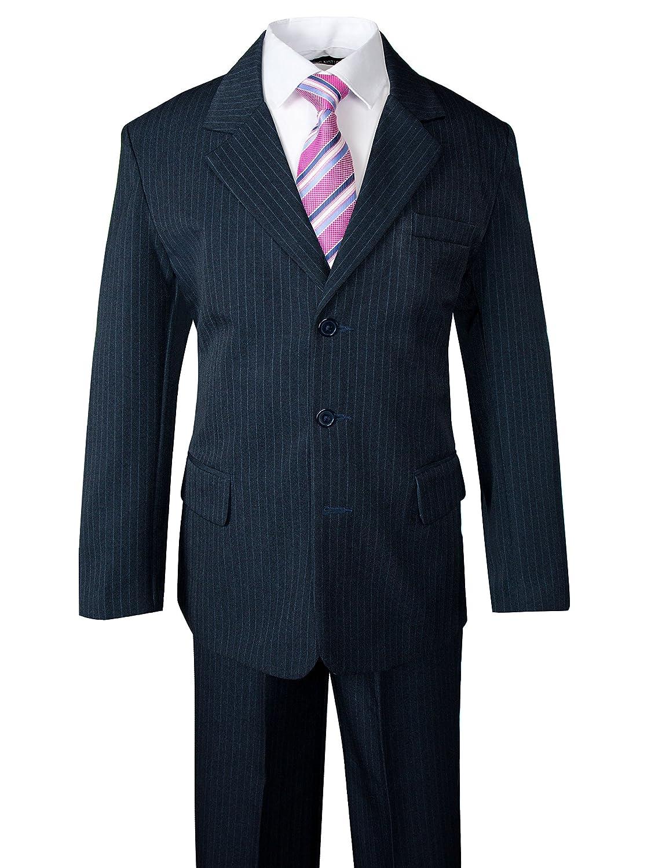 Spring Notion Big Boys' Pinstripe Suit Set Navy ERF888-SNS.888N.BL