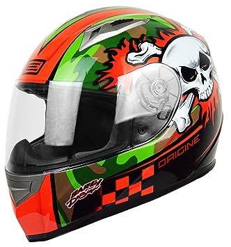 Origine Helmets Tonale Combat, casco para moto, gris y naranja, L