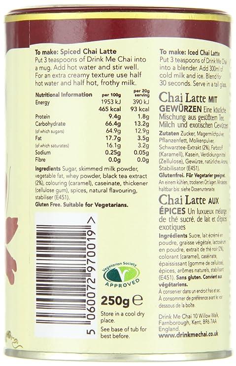 Drink Me Chai Consumer Spiced Chai, 1er Pack (1 x 250 g): Amazon.es: Hogar