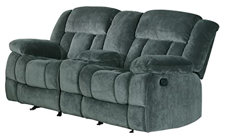 Homelegance 9636CC-2 Laurelton Textured Plush Microfiber Dual Glider Recliner Love Seat with Console  sc 1 st  Amazon.com & Amazon.com: Homelegance 9636CC-2 Laurelton Textured Plush ... islam-shia.org