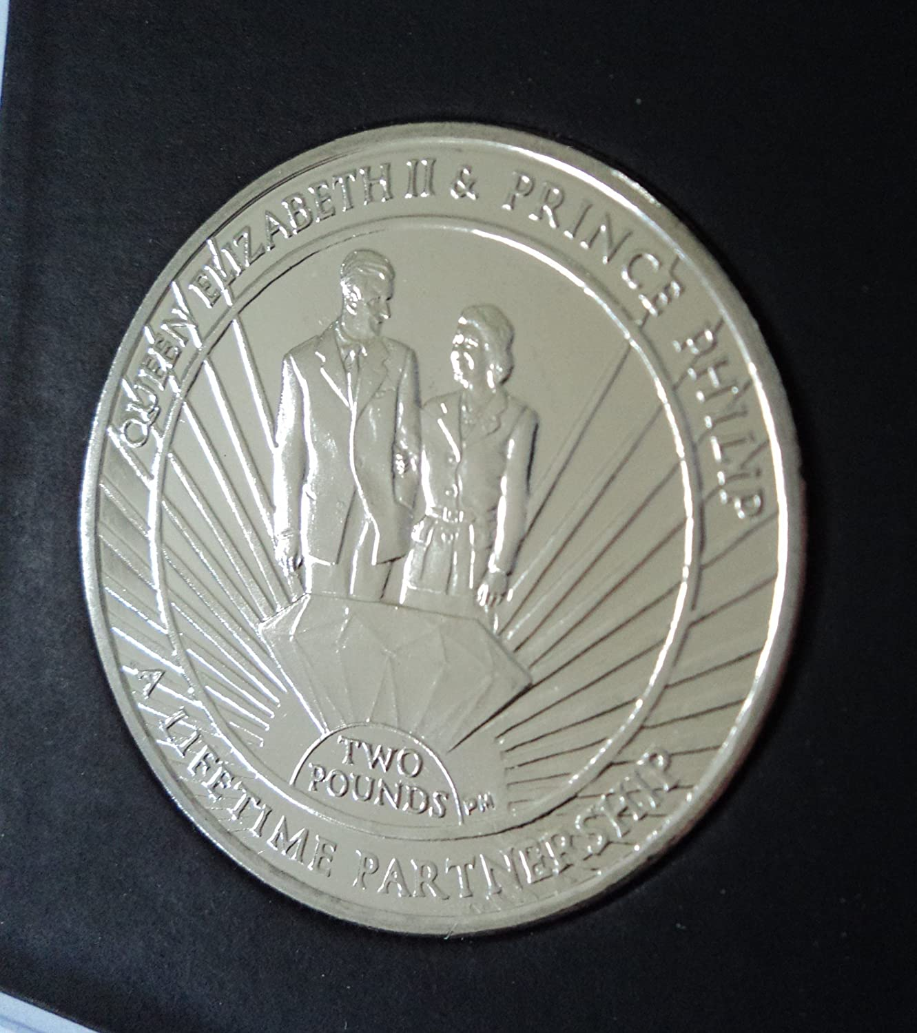 2011 South Georgia & Sandwich Islands Lifetime Partnership of Queen Elizabeth II and Prince Philip  2 Coin (BU) Collector Gift Set in Display Case