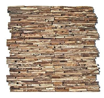 HO-M-006-1 Holzpaneele Teak-Holz Wandverblender Wanddesign Holzwand ...