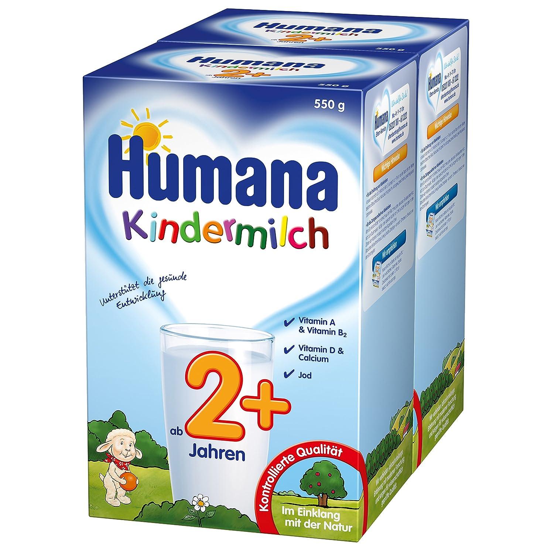 Humana Kindermilch (ab 2 Jahren), 2er Pack (2 x 550 g) 78054 Babynahrung Kindernahrung Milchgetränk