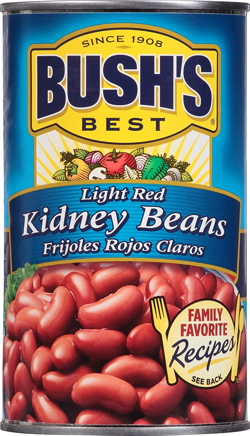 Amazon.com : Bushs Best Light Red Kidney Beans, 27 oz (12 cans) : Grocery & Gourmet Food