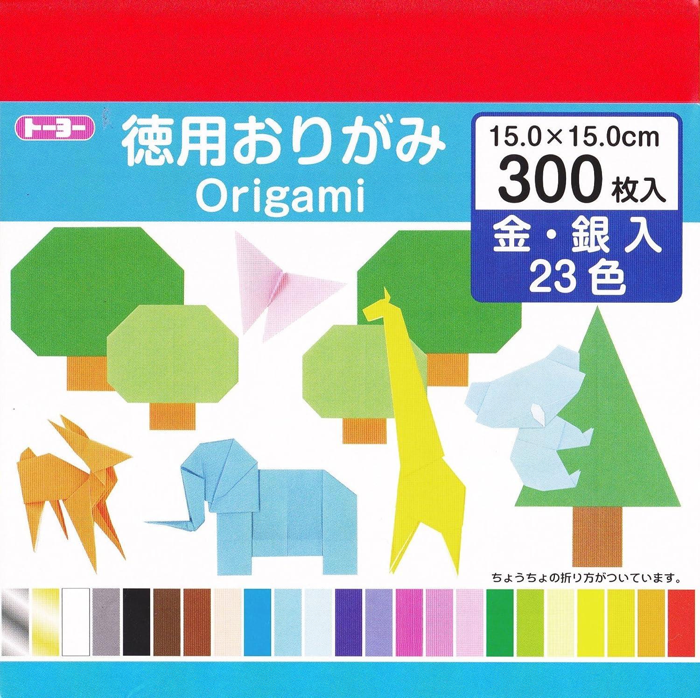 トーヨー 徳用折り紙 15cm角 23色 300枚入 090204