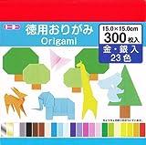 トーヨー 徳用折紙 15cm角 090204 23色 300枚入
