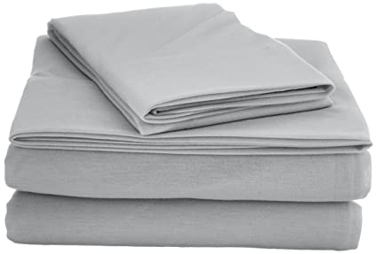 Amazon.com: My World S for Kids Jersey Sheet Set Twin XL Grey