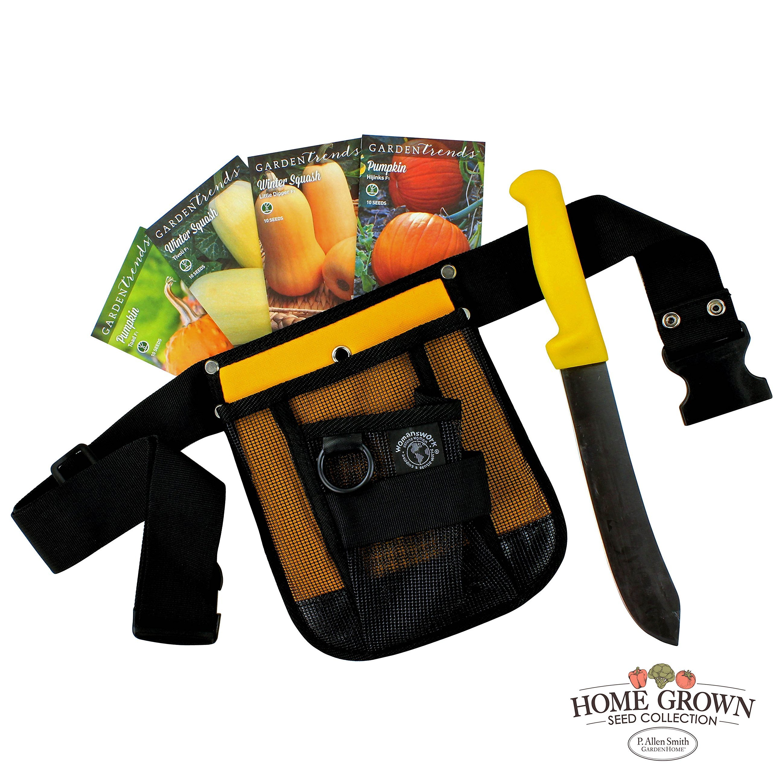 P. Allen Smith Fall Harvest Vegetable Seed Collection - 4 Different Varieties, Plus Tool Belt and Harvest Knife