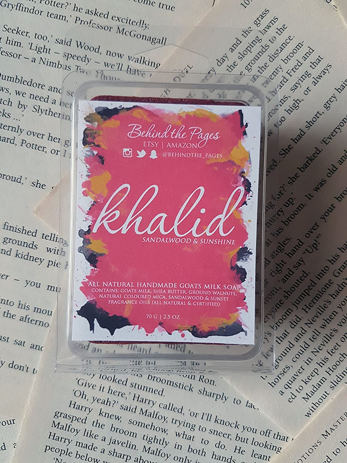 Amazon com: Khalid (The Wrath and the Dawn Duology) Body Soap: Handmade