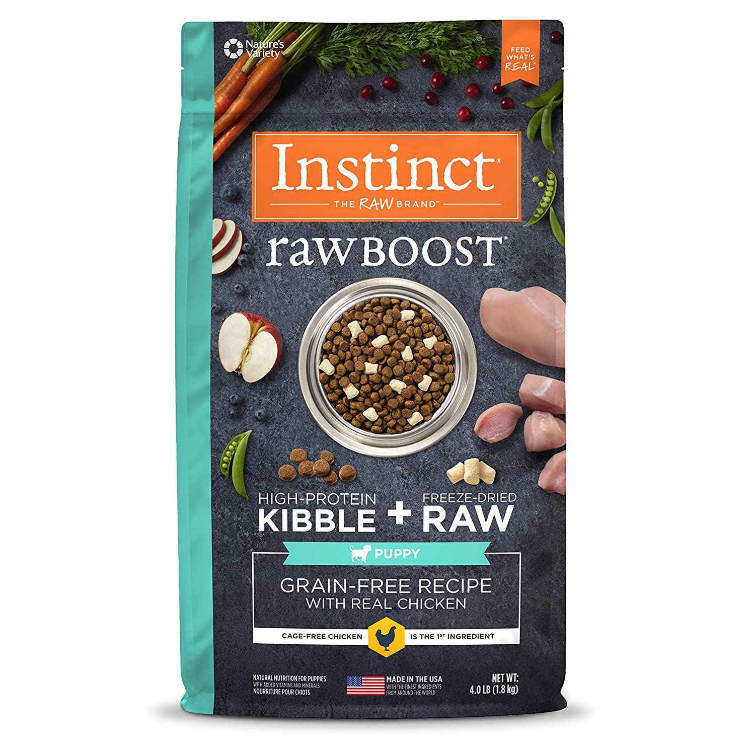 2.Instinct by Nature's Variety Raw Boost Puppy Grain-Free Recipe with Real Chicken