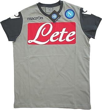 Camiseta de formación algodón Macron Fútbol SSC NAPOLI 2014/15 oficial del, gris