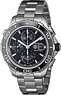 TAG Heuer Mens CAK2110.BA0833 Aqua Racer 500 Automatic Stainless Steel Bracelet Watch