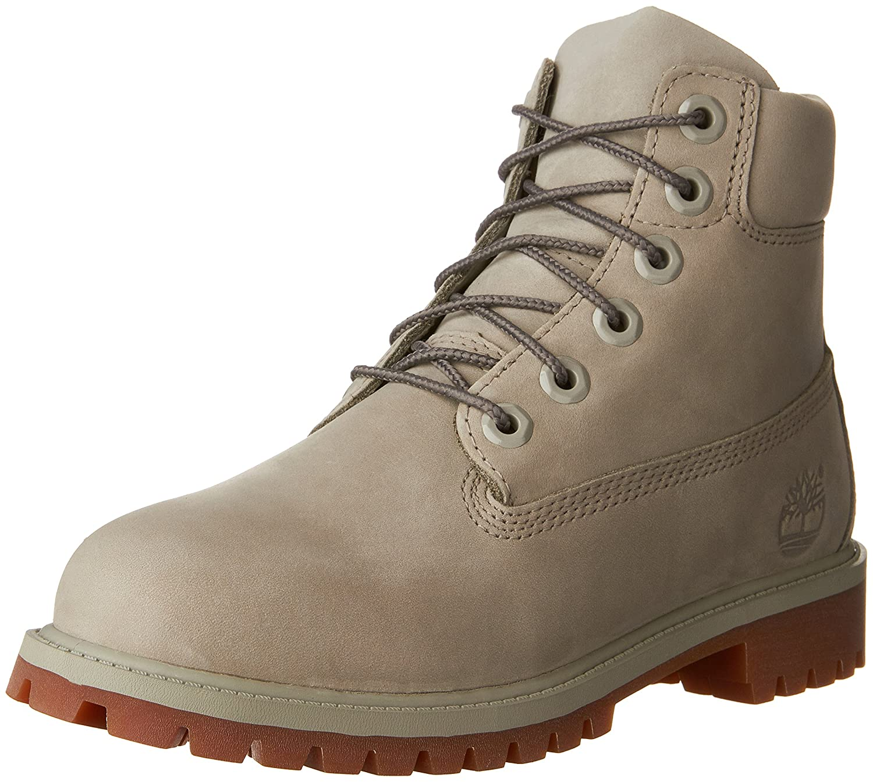 Timberland Girls 6 Premium Waterproof Boot Size 6.5 Big Kid TB0A1KTK093 Flint Grey