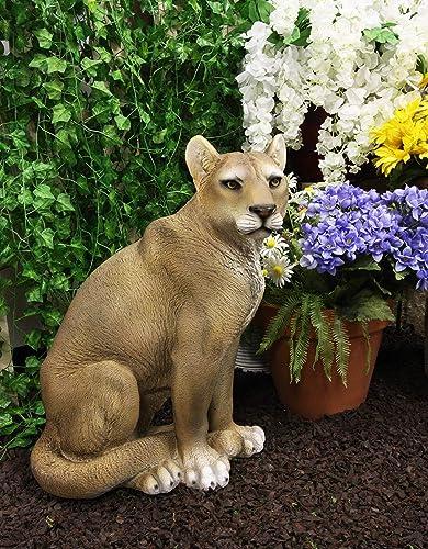Ebros Large Realistic Lifelike Mountain Lion Cougar Sitting