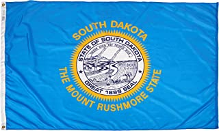 product image for Annin Flagmakers Model 144970 South Dakota State Flag 4x6 ft. Nylon SolarGuard Nyl-Glo 100% Made in USA to Official State Design Specifications.
