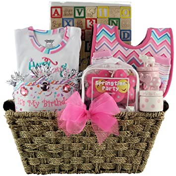 Image Unavailable Not Available For Color GreatArrivals Gift Baskets Babys 1st Birthday