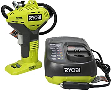 Portable Cordless Power Inflator for Tires Ryobi P737 18-Volt ONE Battery Not Included, Power Tool Only