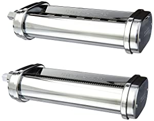 KitchenAid KSMPCA Pasta Cutter Attachment Set (2 Piece), One Size, Silver