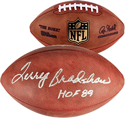 49e00d61475 Terry Bradshaw Pittsburgh Steelers Autographed Wilson Pro Football with HOF  89 Inscription - Fanatics Authentic Certified