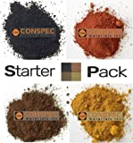 Conspec 8-oz. Mixed Colors Powdered Color for Concrete, Cement, Mortar, Grout, Plaster Brown, DEEP Black, Yellow…