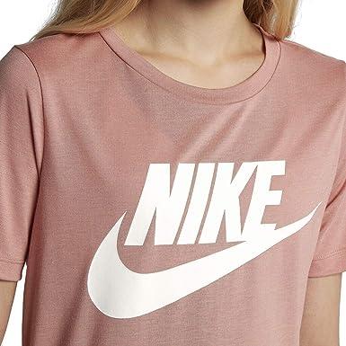 55049473f2a98 Nike Women's Essentials HBR T-Shirt, Rust Pink/White, Medium (829747 ...