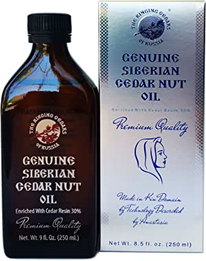 PREMIUM Siberian Cedar Nut Oil Enriched with Pine Resin 30%-8,5oz/250ml. Organic, Extra Virgin, Cold Press by Wooden Press. Ringing Cedars of Russia. Produced in Kin's Eco Settlement, Siberia, Russia. Pine Nut Oil