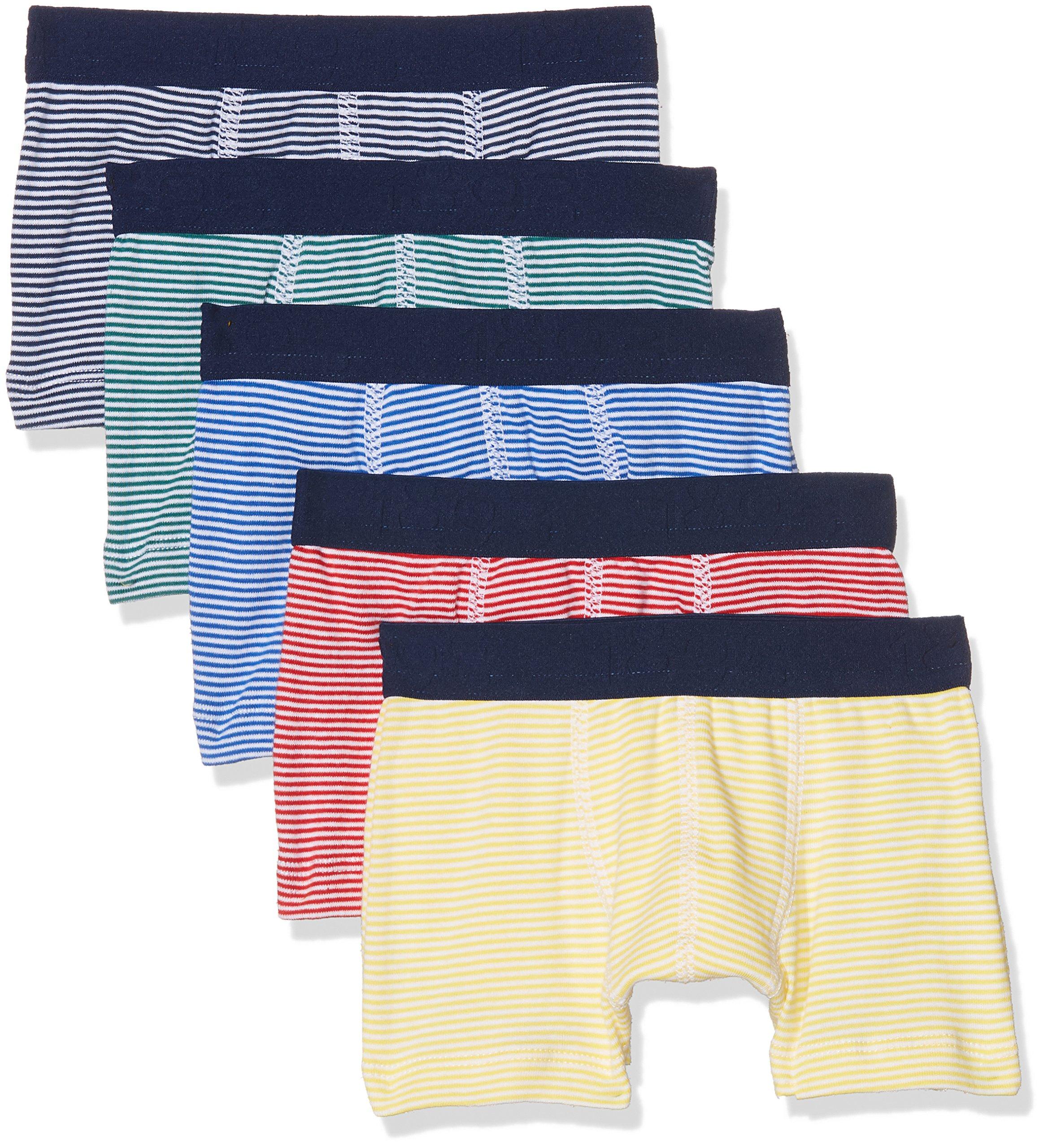 Petit Bateau Set of 5 Boys' Boxers with MILLERAIES Stripes (8)