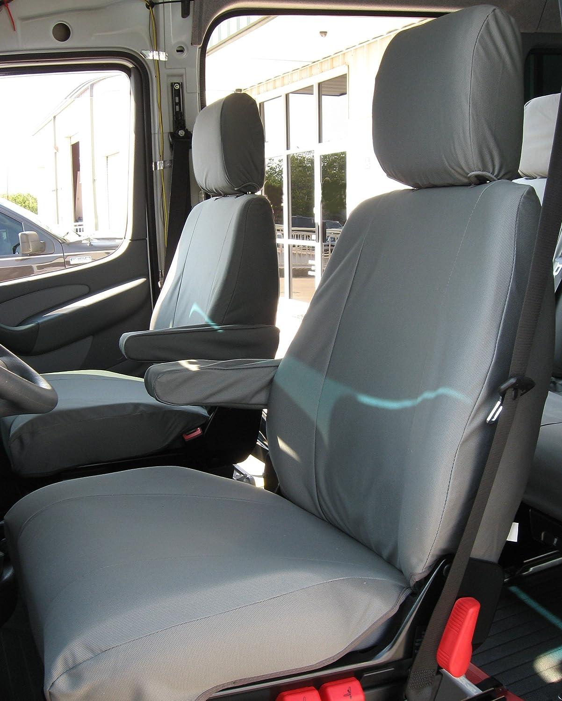 Amazon Exact Seat Covers D1313 X7 2002 2006 Dodge Sprinter Passenger Van Front Bucket Seats Custom Gray Twill Automotive